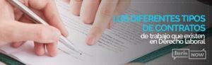 tipos de contratos en derecho laboral