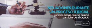 Se puede cambiar de abogado en cualquier momento del procedimiento