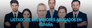 Listado de los mejores abogados de España
