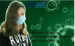 Alarma por coronavirus, visitas a hijos